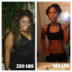 She lost 90lbs in 9 months! Inspiring!