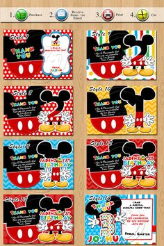 Mickey Mouse Thank you notes Mickey Mouse Thank you by SDBDIRECT, $5.99