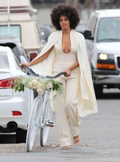 This was a modern day Bianca Jagger moment. Love it. #solangewedding