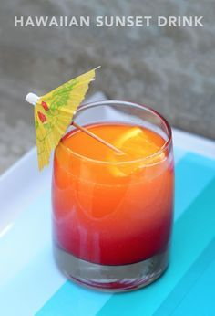 Hawaiian Sunset - Orange Juice, Pineapple Juice, Grenadine, Lemon Lime Soda.