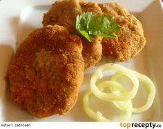 Smažený sekaný řízek s celerem Onion Rings, French Toast, Tacos, Lunch, Chicken, Meat, Breakfast, Ethnic Recipes, Food