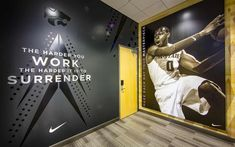 DI was asked to design and build signage + wayfinding systems, branded environments and a donor package that bring the KSU basketball facility to life. Sports Graphic Design, Environmental Graphic Design, Environmental Graphics, Wayfinding Signage, Signage Design, School Signage, Gym Design, Garage Design, Retail Design