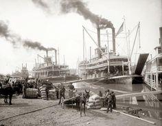 Mississippi River steamboat landing at Vicksburg, Plywood Boat Plans, Wooden Boat Plans, Jon Boat, Boat Dock, Vicksburg Mississippi, Mississippi Delta, Steam Boats, Paddle Boat, Old Port