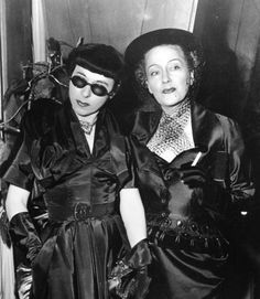 Edith Head and Gloria Swanson, with Edith Head out-DIVAing one of the biggest Divas Hollywood has ever known. Classic!