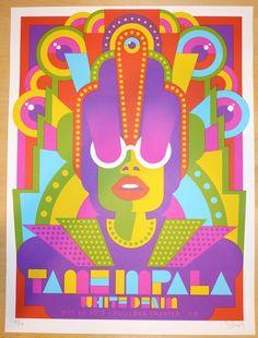 Tame Impala w/ White Denim - silkscreen concert poster (click image for more…