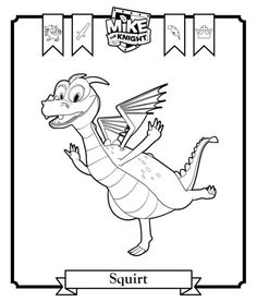 Coloring Page Mike The Knight