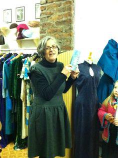 Siobhan Parkinson, proud publisher at Little Island books Janet Devlin, Little Acorns, Little Island, New Books, Product Launch, High Neck Dress, Dresses, Fashion, Turtleneck Dress