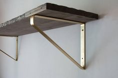 Floating Shelf Brackets - Modern Farmhouse Kitchen Shelves, Rustic Metal J Brackets, Heavy Duty Open Shelving, Farmhouse Style, Custom Shelf Shelf Brackets Modern, Steel Shelf Brackets, Floating Shelf Brackets, Floating Shelves, Gold Shelves, Mounted Shelves, Large Shelves, Triangle Shelf, Modern Rustic Decor