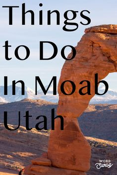 Moab Utah is the perfect outdoor adventure! If you love National Parks such as Arches National Park and Canyonlands National Park.  There is also biking, hiking, camping, star gazing and off roading!  It is a fun family vacation! #moab #utah #biking #hiking #atv #jeep #camping #travel #adventure #outdoors #nationalparks
