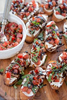 Creamy+Three+Cheese+Bruschetta+with+Goat+Cheese,+Cream+Cheese+and+Parmesan.+An+elegant+and+classy+appetizer+that+everyone+will+love!+via+@Kristin B | Yellow Bliss Road