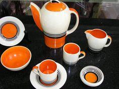 SUSIE COOPER ART DECO COFFEE SET in Pottery, Glass, Pottery, Porcelain, Susie Cooper   eBay!