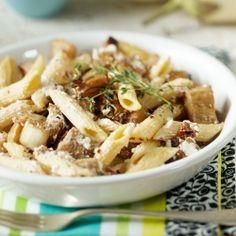 eggplant pasta w/ tomatos & goat cheese