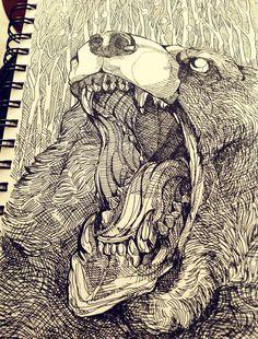 Bear king by Michelle-Harvey.deviantart.com on @deviantART