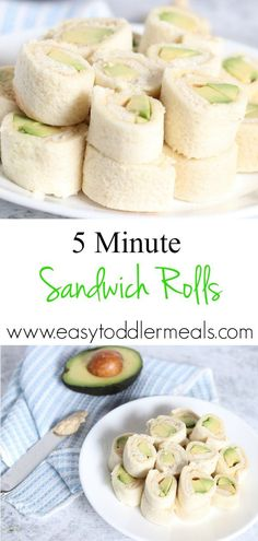 When youre looking for a fast and easy nutritious lunch for your toddler, try these Avocado Hummus Roll Ups. I couple it with some dairy free yogurt and it's a huge hit! Theyre vegan, vegetarian and the perfect little bite-sized finger food for little ones #easytoddlermeals #lunch #sponsored