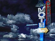 All - Lighthouse Motel Sign by Cathy Anderson