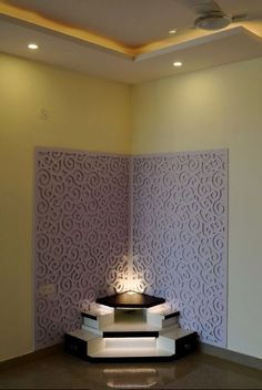 Get tips on creating these gorgeous pooja room ideas in small house. These Indian pooja room designs can easily fit into a flat or an independent house. Temple Design For Home, Home Temple, Small Living Rooms, Living Room Designs, Small Living Room Furniture, Bed Design, House Design, Front Door Design Wood, Mandir Design