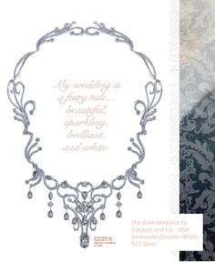 Takayas Custom Jewelry, Gemvisions Swarovski Bridal Book- Rain Necklaces.
