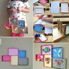 Reuse shoe box lids - you can put anything in them!