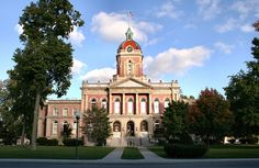 Elkhart County courthouse in Goshen, Indiana,