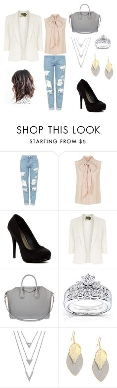 """""""Next day after getting engaged"""" by morgan-vanderydt on Polyvore featuring Topshop, MaxMara, Michael Antonio, Jolie Moi, Givenchy and Kobelli"""
