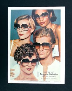1976 Renauld Designer Sunglasses Vintage Advertising 1970s Fashion Glamour Luxury Eyewear Photo Print Ad, Wall Art Decor