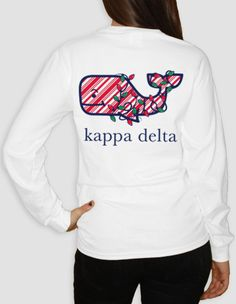 Kappa Delta - Holiday Whale Pocket Long Sleeve by ABD BlockBuy! Just $23 plus shipping until Dec 3