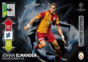 Panini Adrenalyn XL UEFA Champions League 2013 Johan Elmander Limited Edition Trading Card.  Very Rare