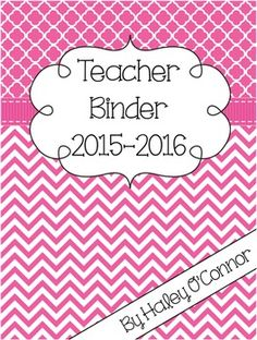 PlannerTeacher Planner Teacher Binder *This planner is updated for the 2015-2016 school year! With this purchase, you will receive updates each year for free! :) Just go to your purchases and redownload! One of things I absolutely can not live without is my teacher binder!