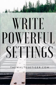 Write Powerful Settings by Creative Writing Tips, Book Writing Tips, Writer Tips, Writing Words, Fiction Writing, Writing Resources, Writing Help, Writing Skills, Writing Prompts