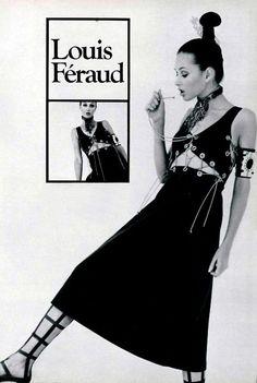 Fashion by Louis Féraud, 70s Fashion, Fashion Shoot, Fashion History, Runway Fashion, Fashion Outfits, Street Fashion, Vintage Fashion, Vampire Film, Weird Look