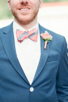 Salmon striped bowtie: http://www.stylemepretty.com/2016/05/02/style-alert-were-bringing-bow-ties-back/