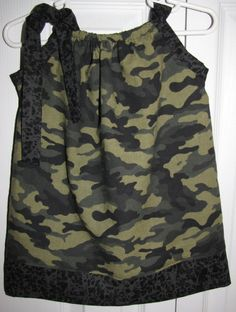 NEW Style Pillowcase Dress Camouflage 69 mos by MyTrendyPrincess, $15.00