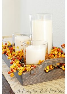 Fall decor for living room table
