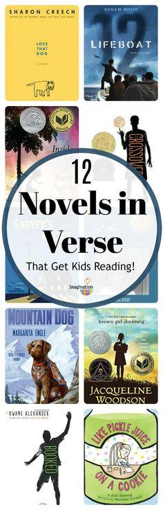 12 Novels in Verse (That Get Tween Kids Reading) Reading Club, Reading Centers, Reading Groups, Kids Reading, Reading Activities, Reading Skills, Classroom Activities, Reading Lists, Poetry Books For Kids