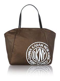 Nylon logo green large tote bag e644413091f64