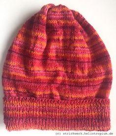 Feine Beanie (Damen-Mütze) aus 4-fädiger Sockenwolle stricken – Anleitung