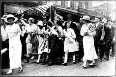 Snapshots of Street Scenes in Sydney Following the Official News of the Armistice - November 1918 - Typical Street Scene During the Celebrations