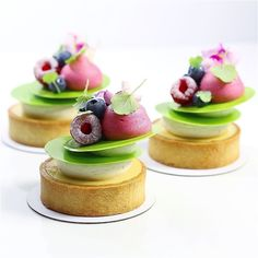 Key Lime Tart with Berries and White Chocolate Whipped Ganache. Recipe by Pastry Chef Antonio Bashour.