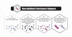How antibiotic resistance happens. #Infographic