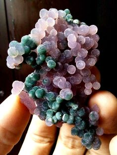 "Indonesian botryoidal Agate, called ""grape Agate,"""