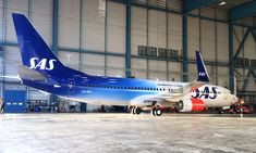 SAS Plane – New Scandinavian Airlines Branding – Taking Scandinavian Airlines to new heights