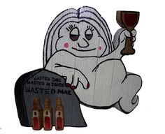 Wasted+Mae+Wasted+Days+Wasted+Nights+Wine+Drinking+Ghost