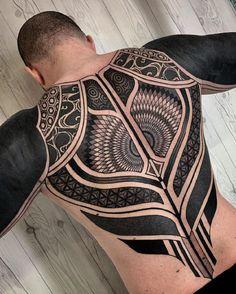 The 30 best back tattoos 2019 maori tattoos Tribal Back Tattoos, Geometric Sleeve Tattoo, Cool Back Tattoos, Back Tattoos For Guys, Black Tattoos, Awesome Tattoos, Male Back Tattoos, Back Tattoo Men, Geometric Tattoos