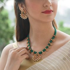 Buy Rukm Necklace Set | Indian Necklace Set Online - Tarinika