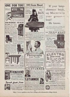 Vintage Advertisements Free Digital Collage Sheets
