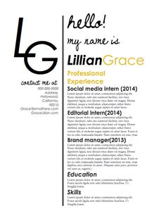 $10 Fun, Modern, And Perfect For Any Designer: A Resume That Includes  Everything