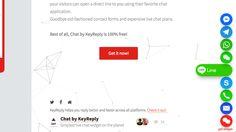 Chat by KeyReply 在網站右下角顯示即時通訊聯絡小圖示,讓訪客更容易找到你!