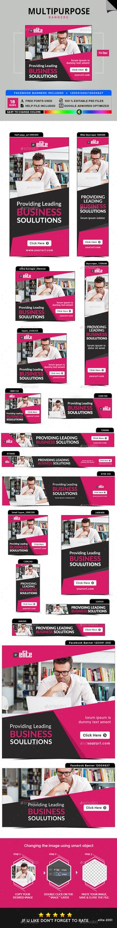 Multipurpose Banners Template PSD #ads