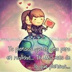 You know that I love you, but in reality I love you more than you know. Amor Quotes, Sign Quotes, Cute Love Stories, Love Story, Love In Spanish, Hj Story, Love Post, Qoutes About Love, Short Words