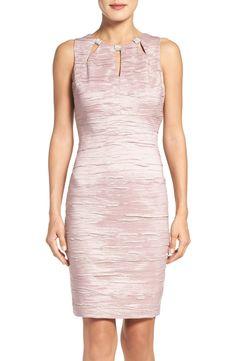 26f46753def9 New Eliza J Embellished Cutout Taffeta Sheath Dress (Regular Petite)